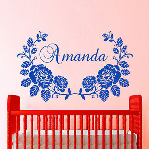 Details About Name Wall Decals Girl Decal Personalized Vinyl Stickers Home Nursery Decor Cc94