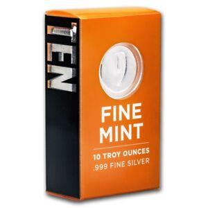 10 oz Silver Bar - 9Fine Mint - SKU #169456