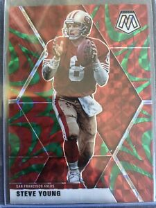 2020 Panini Mosaic Steve Young Red Reactive Prizm San Fransisco