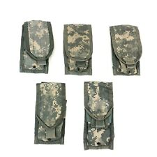 Double Mag Pouch Woodland Molle 2 Magazine Pouch Button US Military VGC 4 PACK