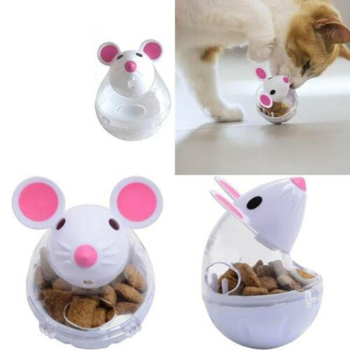 Cat Bow Dog Food Bowl Cat Food Dispenser Bowl Animal Feeder Dog Leakage Rolling