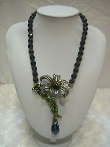 HEIDI-DAUS-034-Botanical-Beauty-034-Beaded-Floral-Lily-Necklace-Orig-199-95