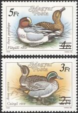 Hungary 1989 Teal/Wigeon/Ducks/Birds/Nature/Surcharge 2v set surch o/p (n45572)