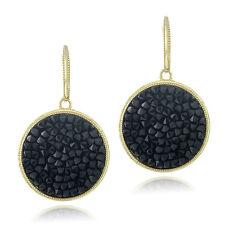 Crystal Ice Black Crystal Rocks Dangle Earrings Made with Swarovski Elements