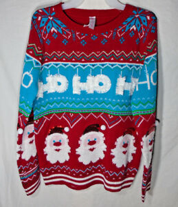 427630aedab0f2 SANTA CLAUSE * NEW Juniors XL * Sweater - NWT - Ugly - Holiday ...