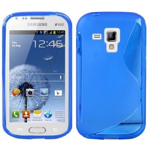 Case Case Frame Case for Phone Samsung Galaxy Trend Duos S7582 Blau