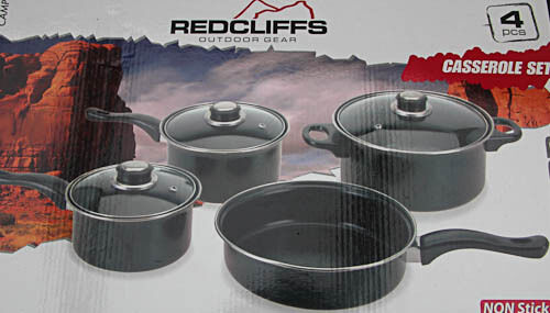 Camping Cooking Tableware 4 Pot Set Camping Dishes Outdoor Dishes