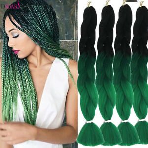 Image Is Loading 24 039 Ombre Green Twist Jumbo Braids