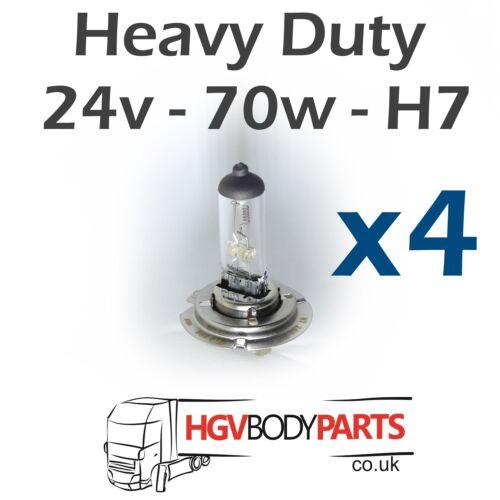 x10 x100 PC entrega al día siguiente Bombillas de luz 24v H7 para vehículos comerciales x4