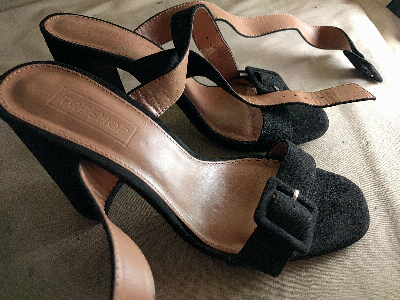 Womens Shoes Topshop Size 5 UK Synthetic Black Shoes