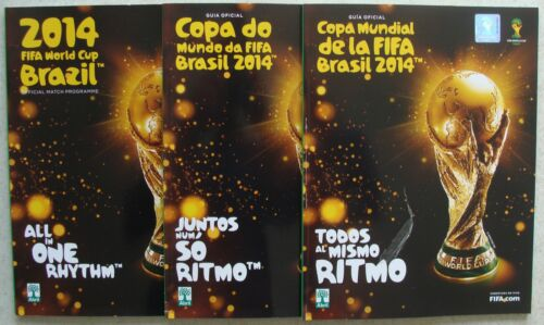 WORLD CUP 2014 Brazil Complete set of all 3 programmes