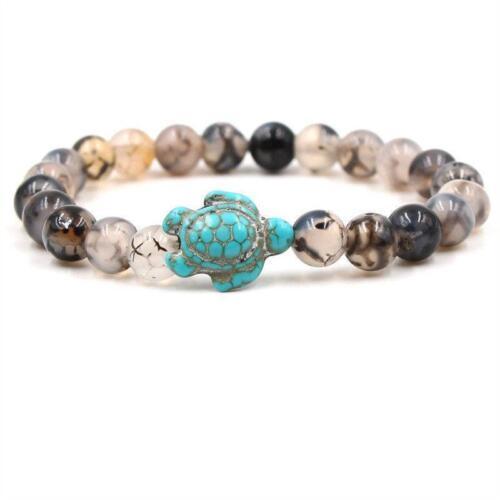 Women Ladies Vintage New Fashion Turtle Beaded Bracelet Gift SD