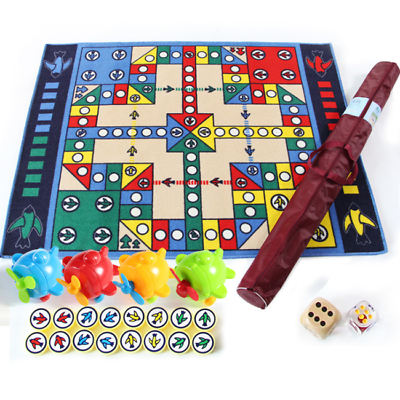 Large Family Outdoor Indoor Ludo Play Mat Kids Chess Floor Carpet Board Game