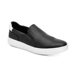 Calvin-Klein-Men-039-s-Fortun-Tumbled-Smooth-Slip-on-Sneakers-Black