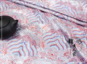 Chinese-Japanese-Wave-Brocade-Satin-Silky-Fabric-Dress-Costume-Cheongsam-Crafts