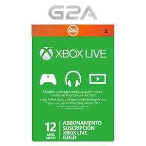 XBOX LIVE GOLD 12 Meses Card - Microsoft Xbox One/360 Suscripción Tarjeta -1 año