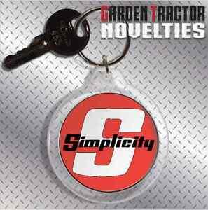 Simplicity-Tractor-Farm-Garden-Lawn-Rider-Mower-Keychain-Key-Ring-Chain-Acrylic