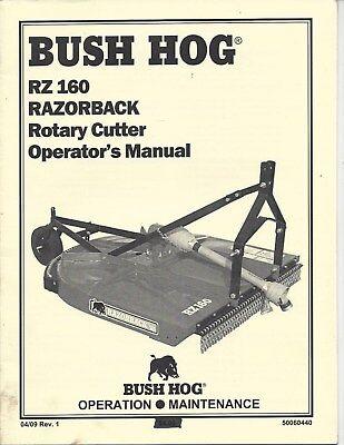 Bush Hog Model Rz160 Razorback Operator Manual 50060440 Ebay