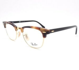4533ab85bd2 Ray Ban RB 5154 5494 Clubmaster Brown Havana Frames Authentic Buyer ...