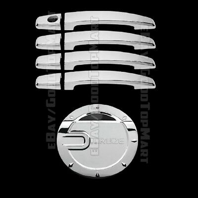Chrome Set 4 Door Handle Covers /& Fuel Gas Cap Door Cover For 08-13 Chevy Cruze