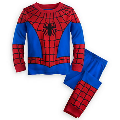 Kids Baby Boys Pyjamas Spiderman Super Hero Nightwear Sleepwear Pajamas Pjs Set