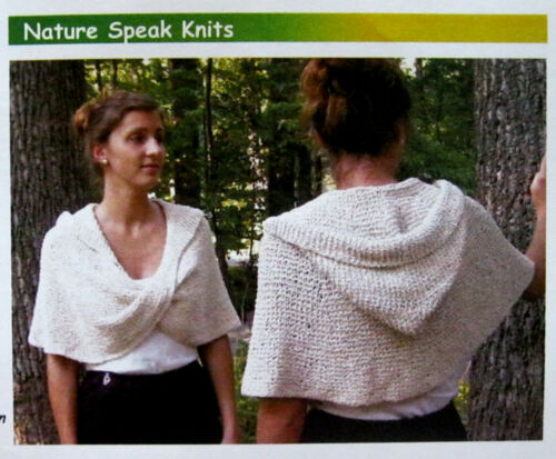 AWESOME HUG /& KISS MOEBIUS WRAP /& HOOD to KNIT in WORSTED WT YARN JEANNE ABEL