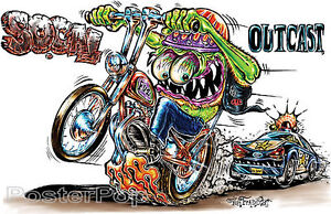 Social-Outcast-STICKER-Decal-Motorcycle-Fink-Art-Von-Franco-VF47-Roth-Like