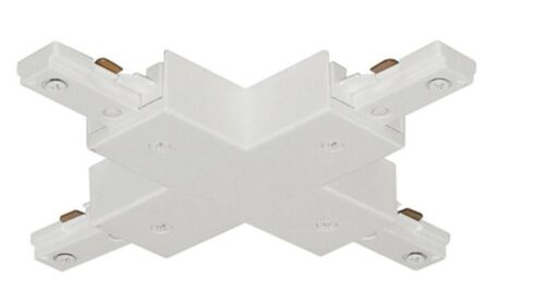 White Juno Track Lighting T26WH 1-Circuit Trac Master X Connector