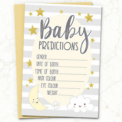 Baby Shower Games// gift for MUM Prediction Cards CHEAPEST FOR £1.99 10 Players