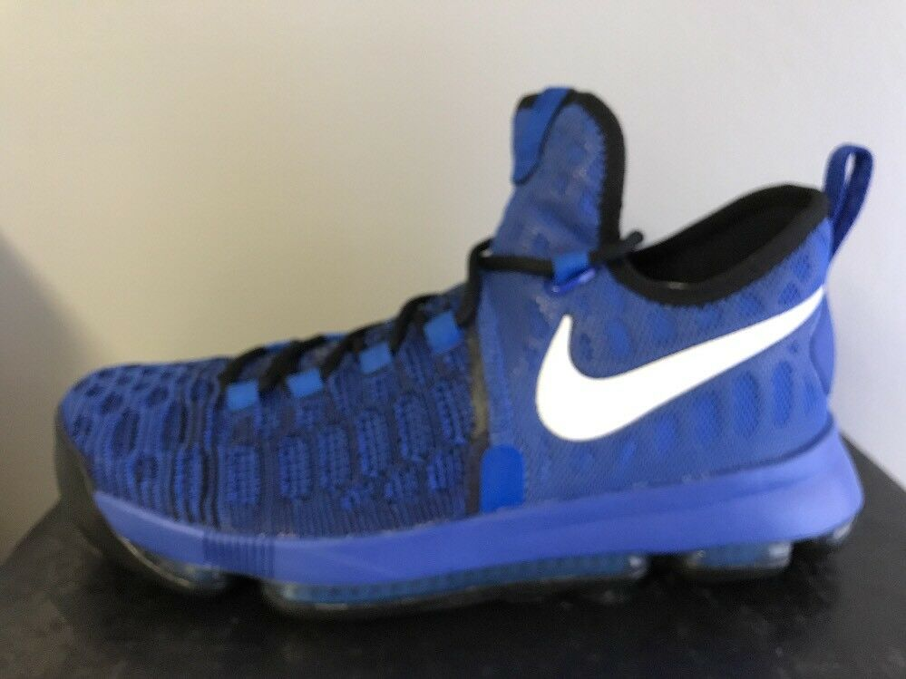 NIKE Men's Zoom KD 9 On Court Basketball Shoes Game Royal Black Blue 843392 410
