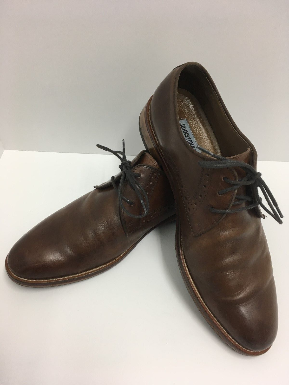 JOHNSTON & MURPHY Calf Skin CONRAD 20-2234 Dress Leather MEN'S SHOES Size 10 M