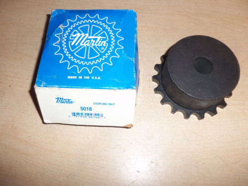 """NEW MARTIN 5018 COUPLING HALF SPROCKET 50 CHAIN 18 TOOTH 3//4/"""" inch BORE"""