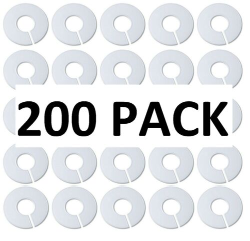 White Round Plastic Blank Rack Size Dividers Multi-Pack