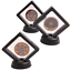 miniature 2 - Coin Display Stand - Set of 10 3D Floating Frame Display Holder with Stands for