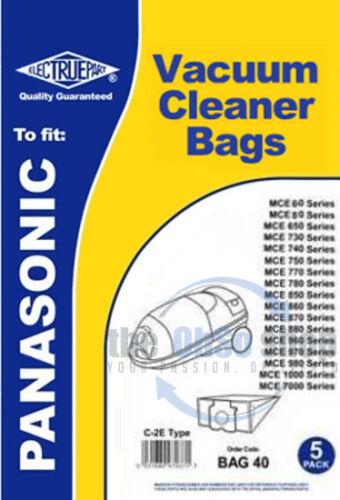 Mccg485 Mccg485k Mccg487 5x Panasonic Cylindre Sacs D/'Aspirateur C-2e Type