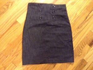 96cb5167f My Lola...6 Button Front Hi-waist Black Denim Sailor Mini Skirt Sz M ...
