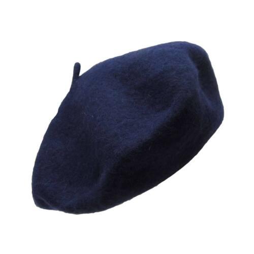 Wool French Beret Women/'s Men/'s Plain Solid Color Tam