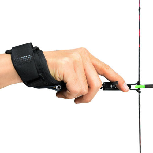 Archery Release Aids Wrist Grip Caliper Adjustable Compound Bow Target Hunting