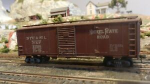 Roundhouse-MDC-Vintage-HO-Boxcar-Nickle-plate-Road-All-Diecast-K-Ds-Exc