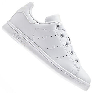 Kids New Adidas Original Leather Shoes Trainers Black Fashion Boys