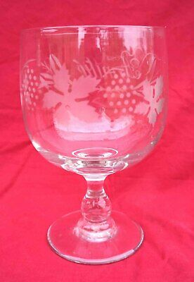 "Friendship Amitie Glass Grapes Foliage Antiques Stemware French Art Glass Large Ø 5""+"