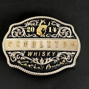 Montana-Silversmiths-Pendleton-Whisky-Rodeo-Belt-Buckle-2014-Western-Cowboy