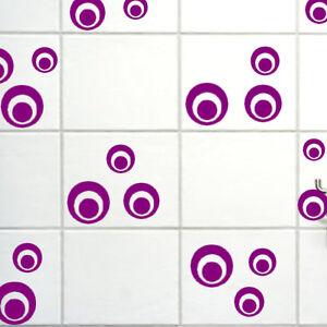 30-Stueck-Retro-Dots-Bad-FLIESENAUFKLEBER-Fensterbilder-Spiegel-Kinderzimmer