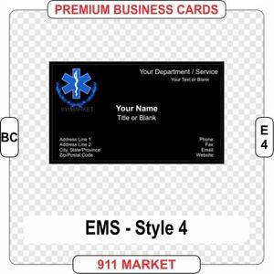 Ems badge business card full color paramedic emt emergency medical image is loading ems badge business card full color paramedic emt colourmoves Image collections