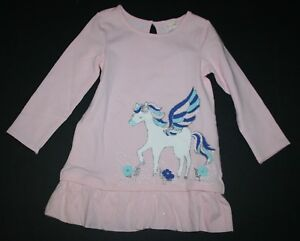 NEW-Gymboree-Outlet-Pink-Pegasus-Horse-Glitter-Dress-NWT-Size-2T-3T-4T-5T-Girls