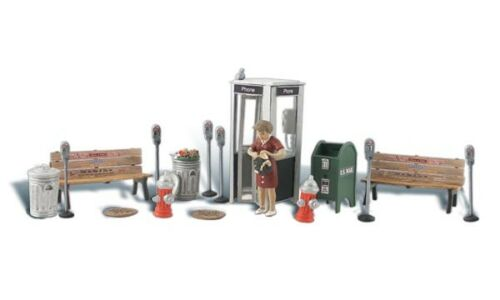 HO Scenic Accents Street Accessories Benches Fire Hydrants Meters Mail Box MIP