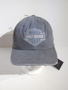 Harley-Davidson-Frayed-Bar-amp-Shield-Logo-B-amp-S-Baseball-Cap-Kappe-99414-16VM