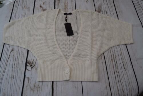 BNWT oli Donna Bene Knit Batwing Cardigan Colore Crema Taglia 12 K1