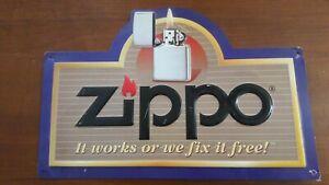 Zippo-targa-in-latta-originale-vintage-Misure-cm-39-lunghezza-altezza-26-cm