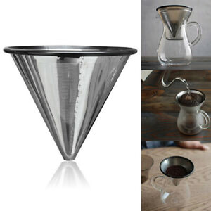Stainless-Steel-Pour-Over-Coffee-Filter-Reusable-Paperless-Cone-Dripper